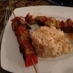 Well flavoured Kofta skewers with delicious rice