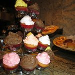 Cupcakes at coffee shop