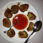 Deep fried crab and pork with sweet chilli sauce