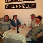 Bob, Maggie, Bill and Sarah enjoying dinner