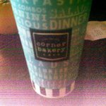 A cup from the Corner Bakery, nothing spec