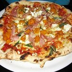 Delicious pumpkin and proscuitto pizza