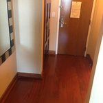 entry way - real wood floors