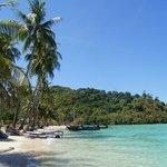 the resort private beach