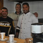 The Egyptian team - cooking and serving at Deans