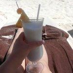 Pina Coladas on the beach!