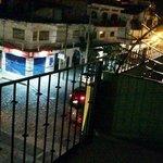 from balcony at night