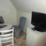 Bedroom sitting area.