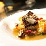 Shanghai Bouillabaisse; blue cod fillet, prawn, mussels, shell broth, radish, tofu