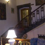 Stairwell with antiques