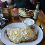 Cajun Kitchen huevos rancheros, Mar. 2013