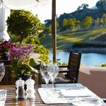 Club House Terrace and lake at Marbella Club Golf Resort