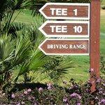 Tee sign detail Marbella Club Golf Resort