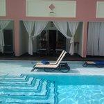 Nuestra habitacion con la piscina