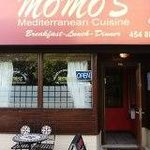 Exterior of Momo's Restaurant