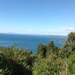 Beautiful Lake Taupo a stones throw away