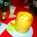 """Seafood stuffed Mofongo""delish!"