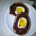 Black pudding scotch quails egg