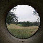 View through window,Rushton Triangular Lodge.