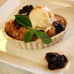 Orange Roll Bread Pudding with Vanilla Bean Ice Cream