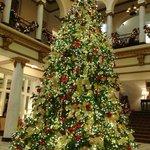 The Capital Hotel lobby at Christmas