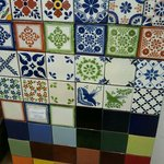 Hand-made Mexican tiles
