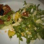 Rucolasalat und Kohlrabi mit Guacamole.supergut!