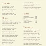 Lunchtime menu