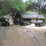 The front of Reception where the Safaris set off from