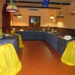 Sala Ristorante O'calabrisuotto allestita per compleanno