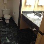 Marble tiled bath