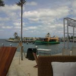 View from our table of the marina