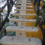 L'escalier vers la terasse