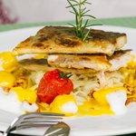 Steirischer Saibling auf Paprikakraut