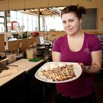 Our friendly staff serves up delicious sweet crepes all day long