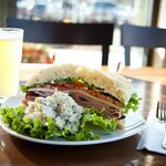 Enjoy a micro-brew and sandwich for lunch or dinner at The Bistro