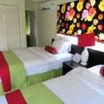 Bedroom/bathroom. Comfortable beds!
