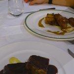 brownie de ternera y presa iberica