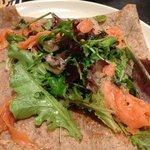 ce jour la crêpe saumon marines poireaux