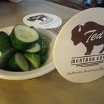 Complimentary Slightly-Pickled Cucumber Chunks