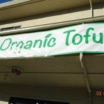 Banner outside the restaurant