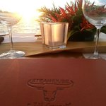 Steakhouse menu designed by Peter Kuruvita