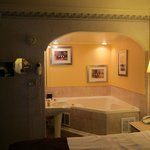 Looking at the Jacuzi tub from the sleeping area