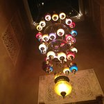 Beautiful lamp in the dining room