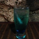 Obligatory Blue Cocktail Drink in Curacao