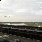 部屋から見える空港