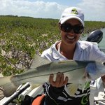 Alicia with a cracker snook!