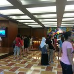 Lobby.  Loooong queue to check in, took more than 30 mins.