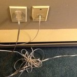 wires too close to the only heater in standard room