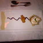 Deconstructed apple crumble